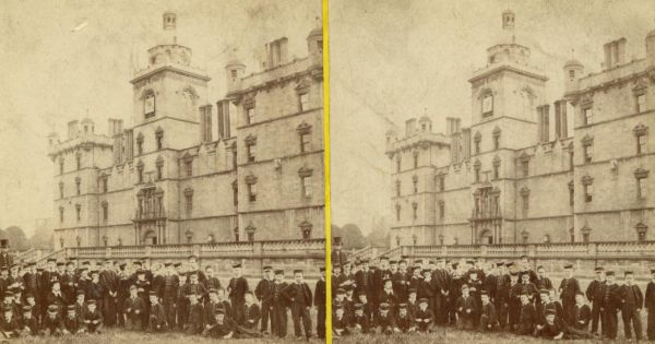 Stereoscope Of George Heriot's School And Pupils 1880s