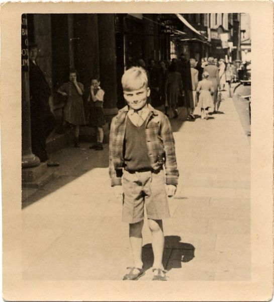 Boy Standing In Kirkcaldy High Street c.1950