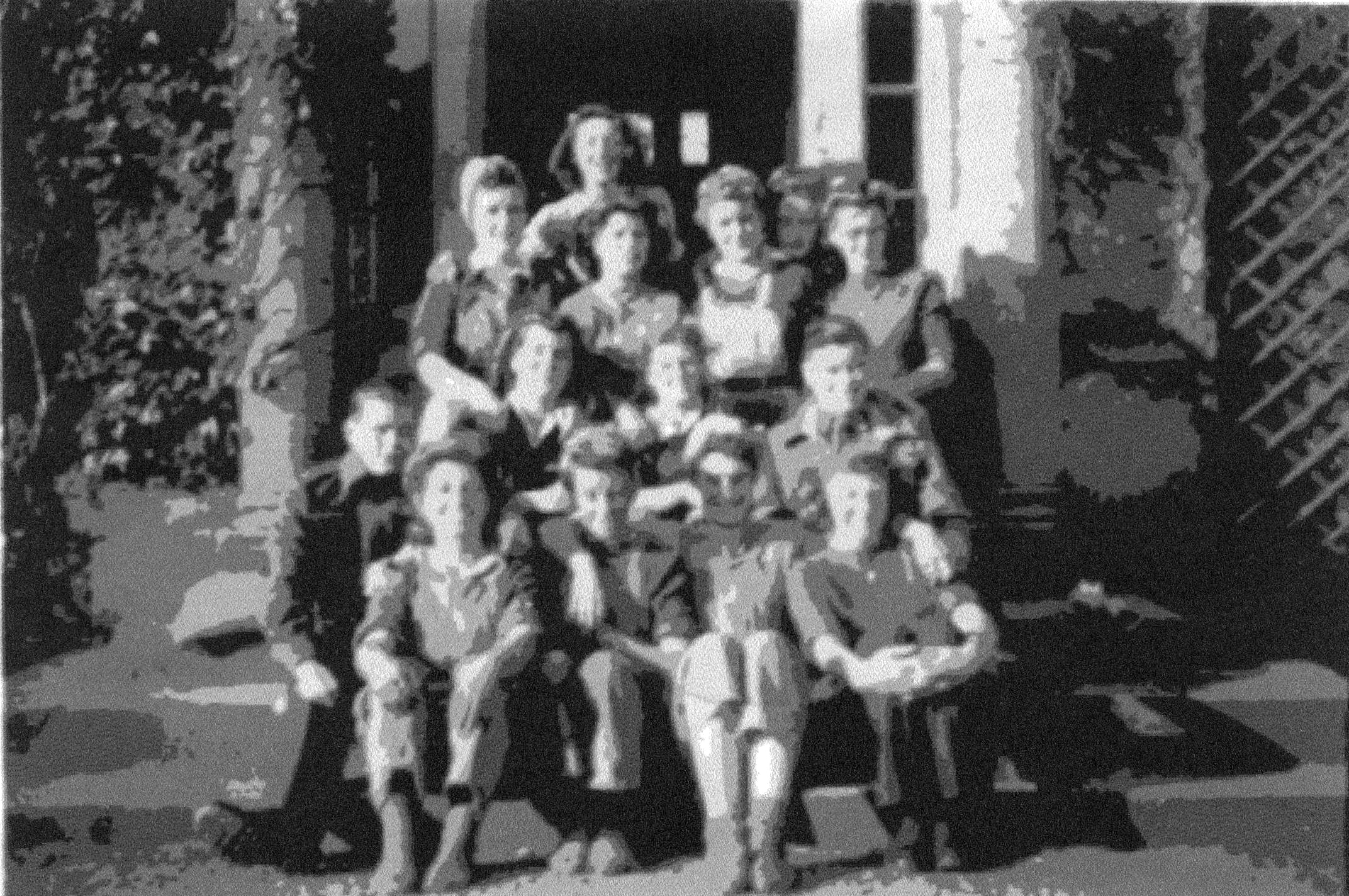 Women's Land Army Girls On Steps Of Glencorse House, August 1946