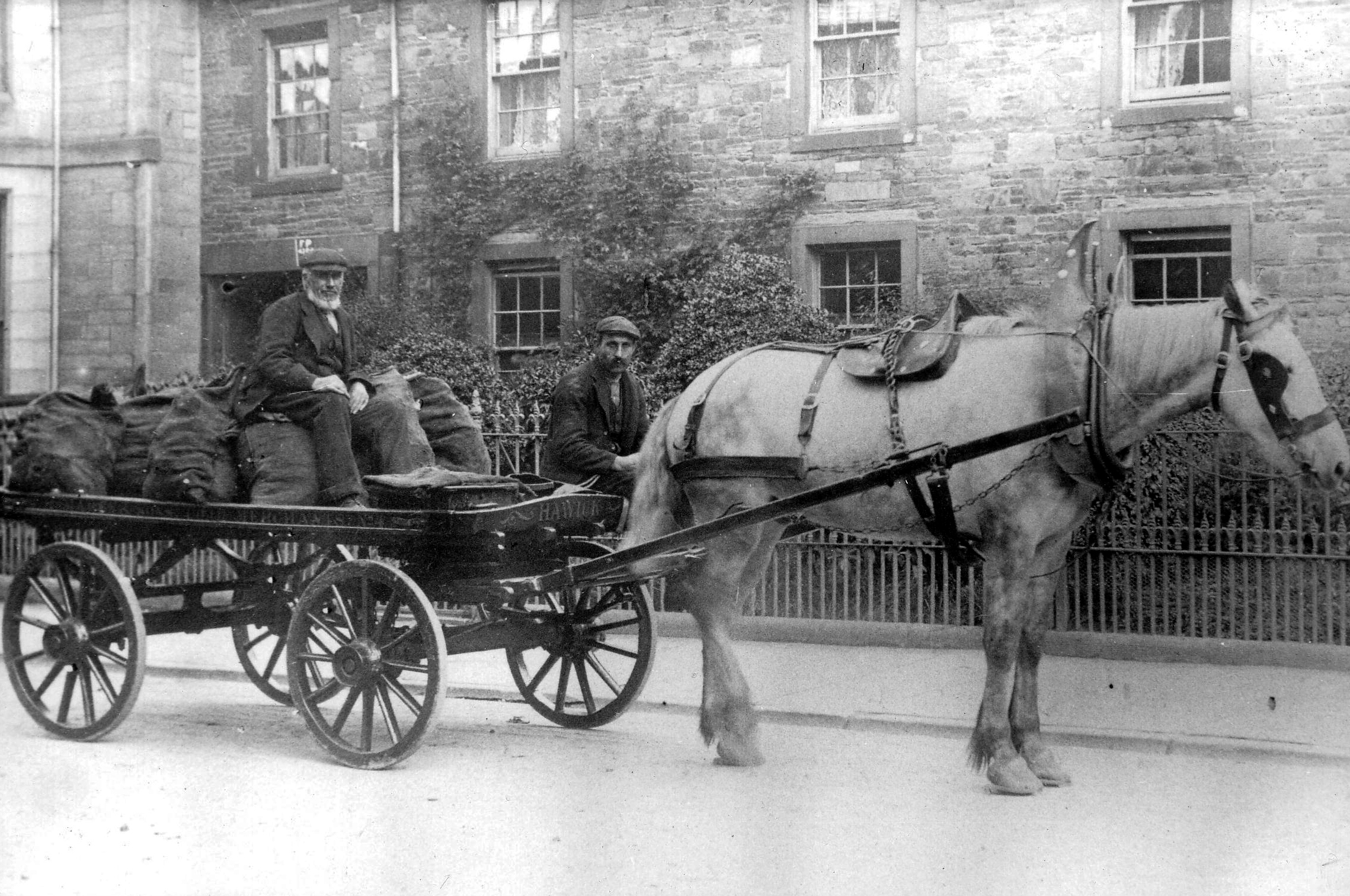 Hawick Coal Merchant With Delivery Horse And Cart 1910s