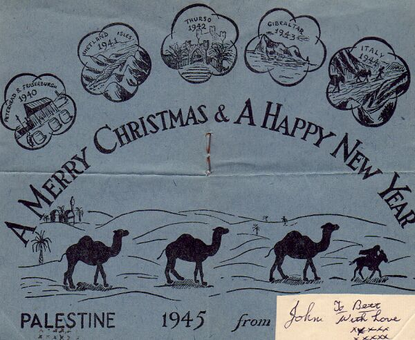 Christmas Card From Member Of Battalion That Had Fought In The Italian Campaign 1944/45