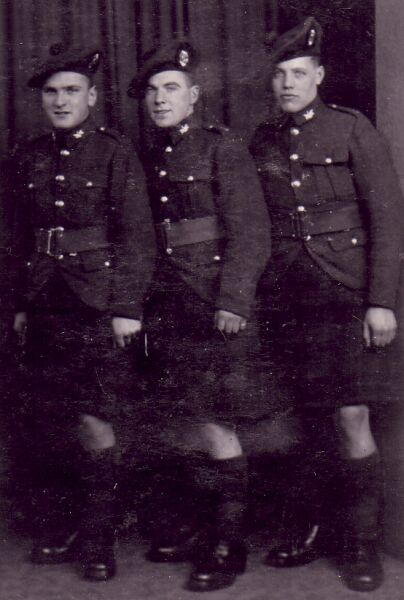 Three Soldiers In Walking Out Uniform, October 1939
