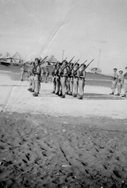 'A' Company Mounting Camp Guard Parade 1945
