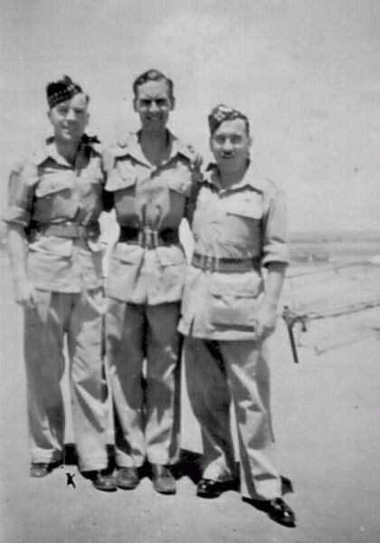 Three Soldiers In The Near East 1945