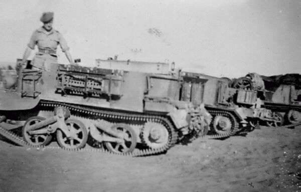 Soldier With Bren Gun Carriers 1945