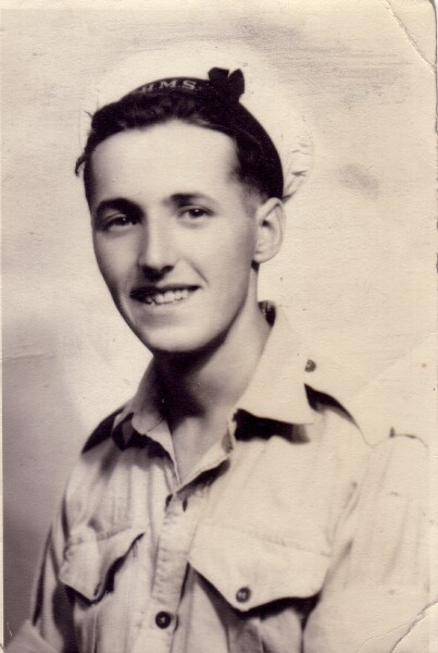 Studio Portrait Young Sailor, December 1945