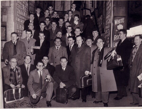 Edinburgh Rugby Team Members And Supporters Off To An Away Match 1950s