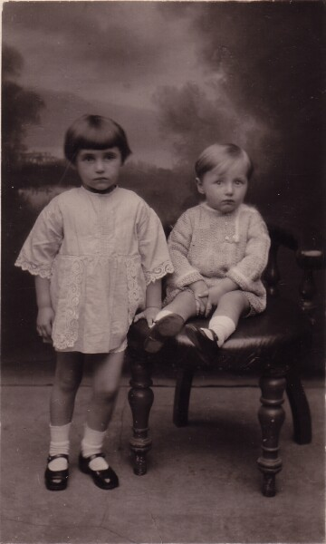 Studio Portrait Brother And Sister c.1927