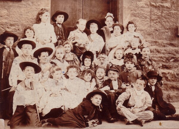 Pupils Of New Street School Dressed Up In Costumes Perhaps For School Play c.1890