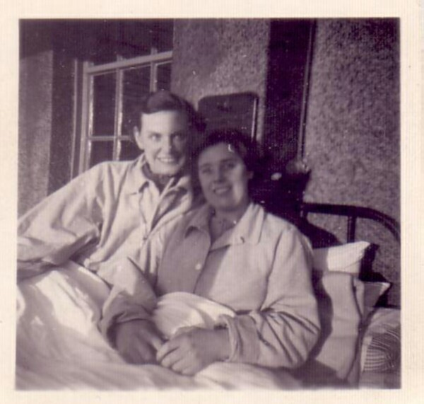 Patient And Visitor At Astley Ainslie Hospital, Nov 1951