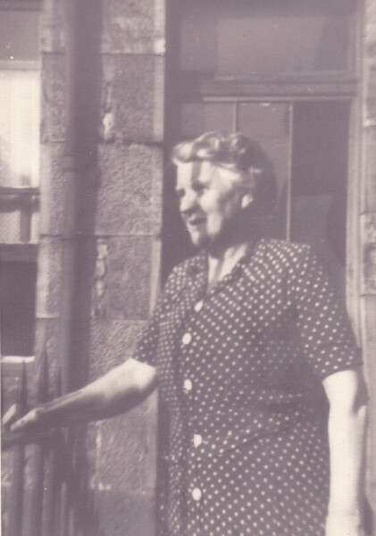 Lady Looking Out From Tenement Balcony At Sunbury Place 1945