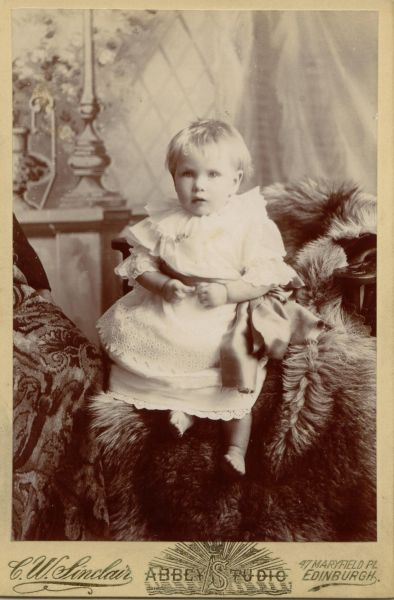 Studio Portrait Young Child c.1900