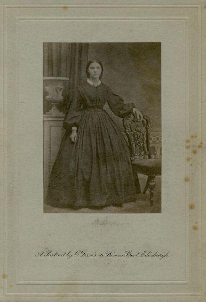 Studio Portrait Young Victorian Woman 1880s