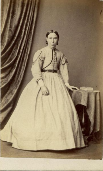 Studio Portrait Young Woman 1860s