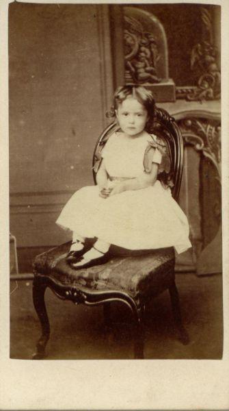 Studio Portrait Young Girl 1880s