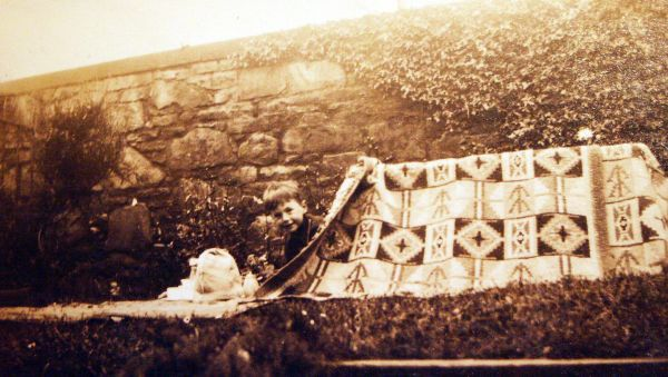 Young Boy In Makeshift Tent In Back Garden At 11 Pentland Terrace c.1931