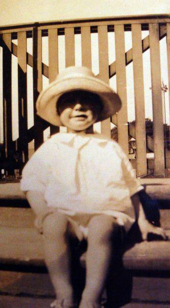 Young Boy In Sun Bonnet 1928