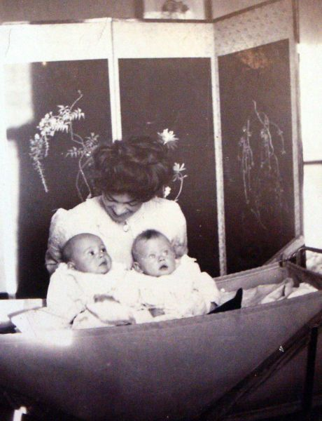Grandmother With Twin Grandsons 1911