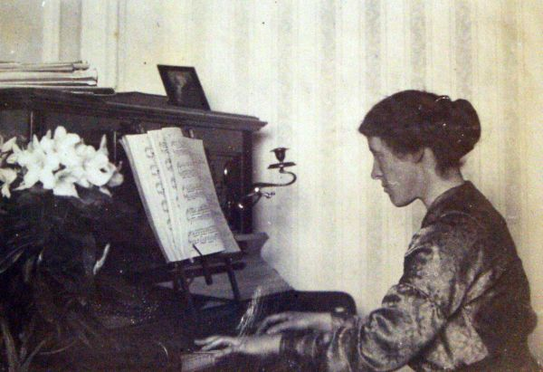 Woman Playing The Piano c.1911