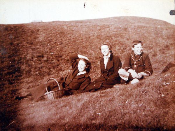Three Young People On A Day Out c.1910