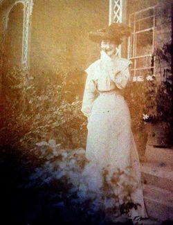 Edwardian Lady Standing In Garden c.1910