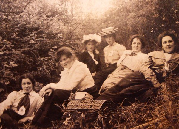 Pupils From St George's School For Girls On An Outing c.1902