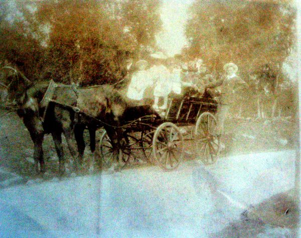 Day Out On Horse-Drawn Carriage c.1900