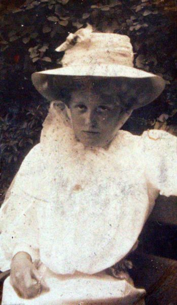 Portrait Young Edwardian Woman 1905