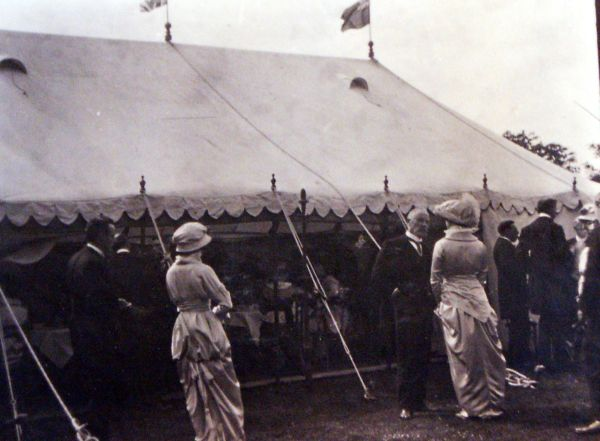 Formal Gathering At Outdoor Event c.1905