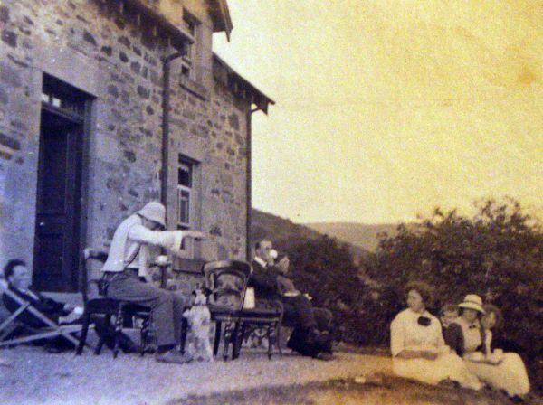 Family On Holiday Relaxing Outside c.1910