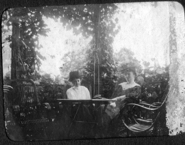 Edwardian Ladies Sitting At Table In The Garden c.1905
