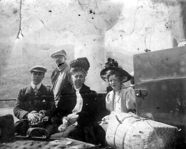 Edwardian Family On Cruise Ship c.1910