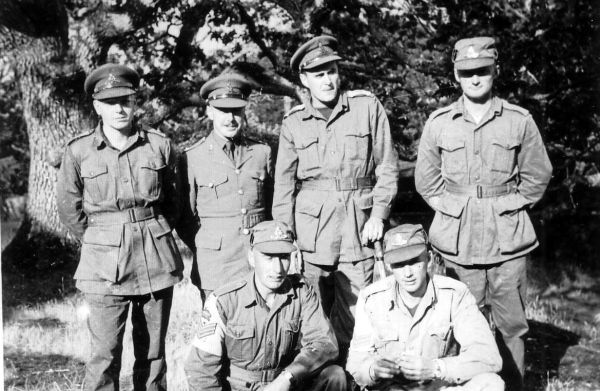 Group Of Army Personnel At Camp 1952