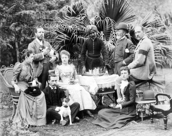 Victorian Party Taking Tea 1890s