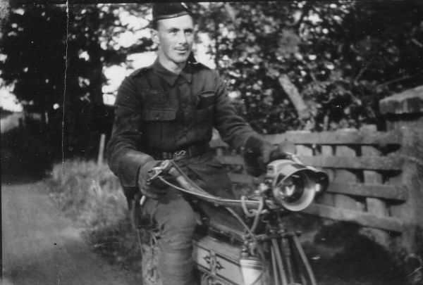 Territorial Army Member On Motorbike c.1912