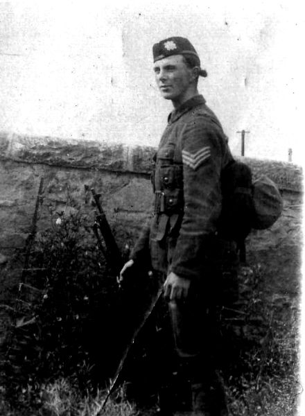 Young Soldier Standing By Wall c.1912