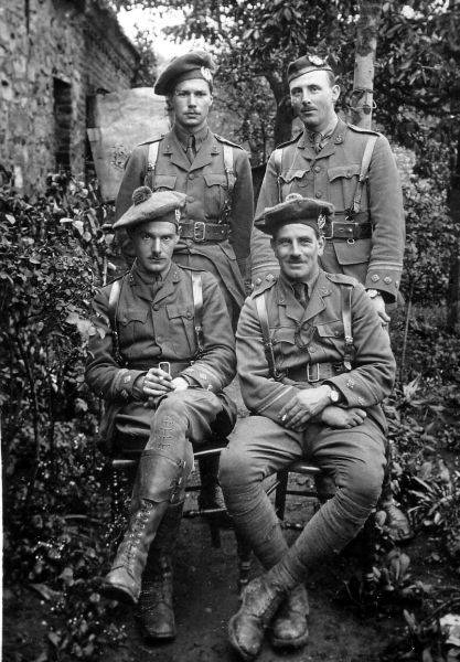 Group Of Officers Off Duty 1916