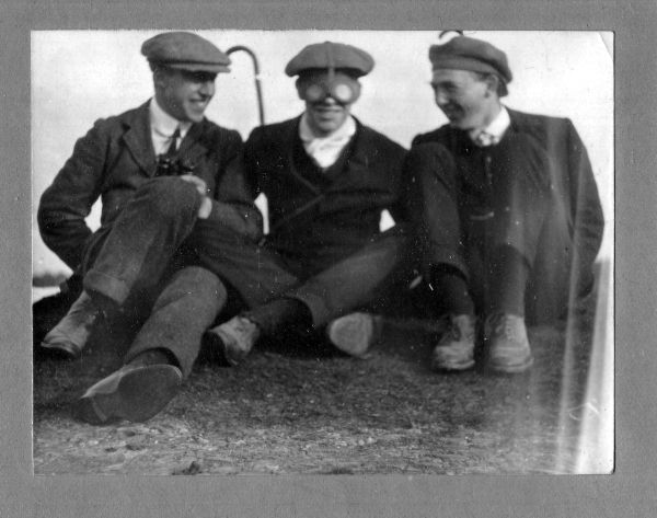 Three Young Men Larking About c.1912