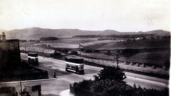 Trams On Comiston Road 1934
