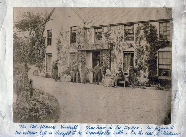 Gathering Outside The Old Manse At Kinneff c.1865