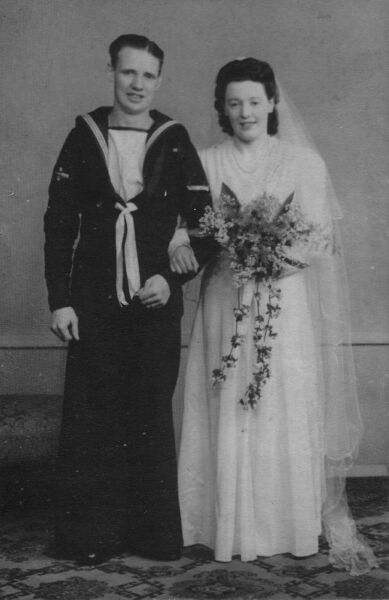 Sailor And Bride Just Married 1944