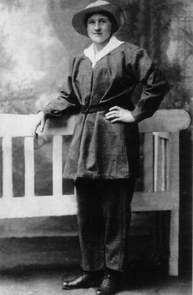 Studio Portrait Possibly Munitions Worker c.1916