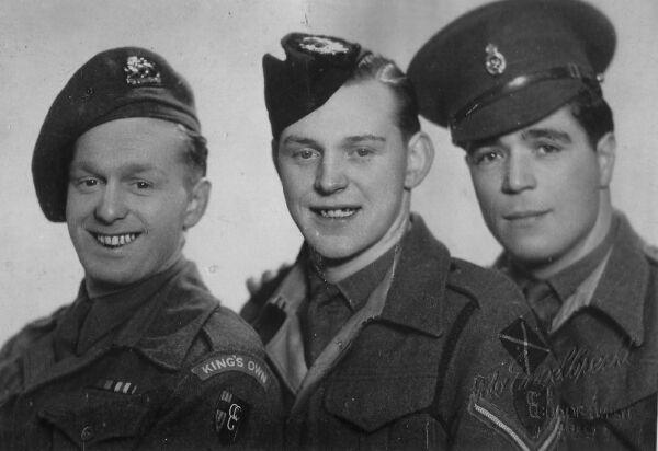 Studio Portrait Three Soldiers c.1946