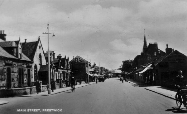 Postcard Of Main Street, Prestwick c.1940