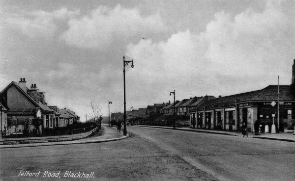 Postcard Of Telford Road, Blackhall c.1940