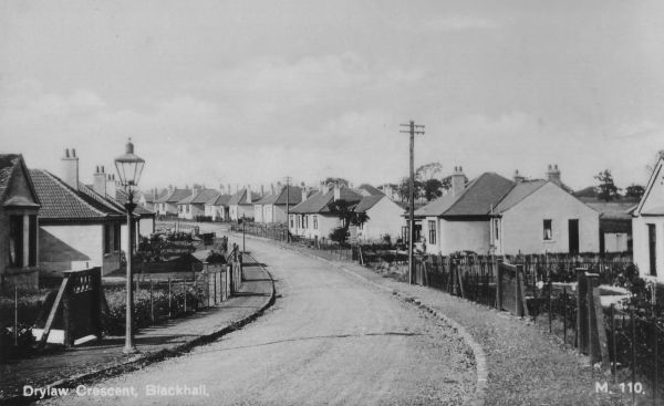 Postcard Drylaw Crescent, Blackhall c.1940