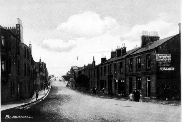 Postcard Marischal Place, Blackhall c.1910