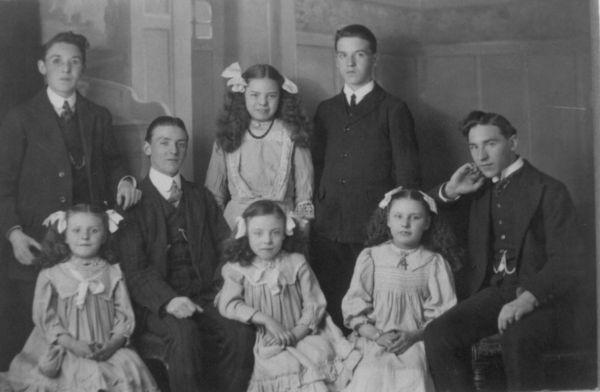 Studio Group Portrait Of Siblings c.1906