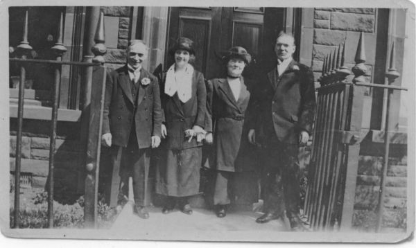 Parents Of The Groom And Bride On Wedding Day 1925