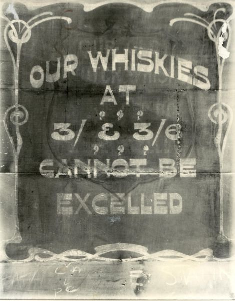 Painted Advertisement For Whisky On Shop Wall c.1920